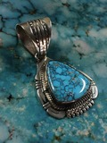 Silver Pendant with No.8 Turquoise