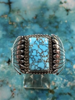Silver Ring with No.8 Turquoise 20.5号