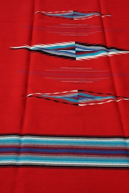 Ortega's Weaving Rugs Red
