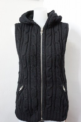 CHROME HEARTS HAND KNIT HOODED VEST