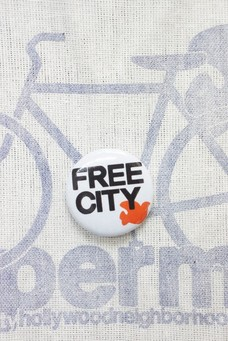 FREE CITY PIN White