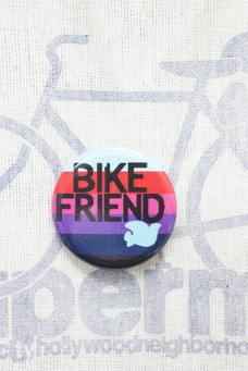 FREE CITY BIKE FRIEND PIN Light blue