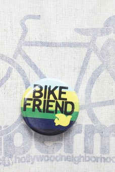 FREE CITY BIKE FRIEND PIN Yellow