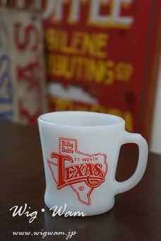 Fire King Billy Bob's TEXAS Advertising D-handle