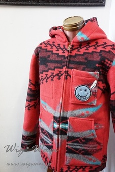A Love Movement Blanket Parka Red #12 <M>